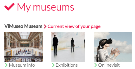 Screenshot: How to edit information about museum